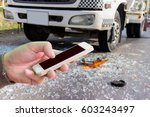 man use mobile phone  blur... | Shutterstock . vector #603243497