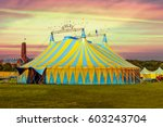 Circus tent under a warn sunset ...