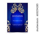 invitation card  wedding card...   Shutterstock .eps vector #603254285