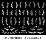 hand drawn branches and wreaths ... | Shutterstock . vector #603260615