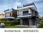 real estate house for sale | Shutterstock . vector #603266231
