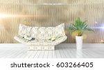 modern bright interior . 3d... | Shutterstock . vector #603266405