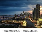 miami downtown at night ... | Shutterstock . vector #603268031