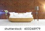 modern bright interior . 3d... | Shutterstock . vector #603268979
