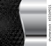 Metal Background With Black...