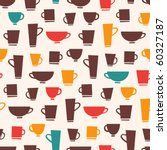 coffee mug pattern | Shutterstock .eps vector #60327187