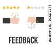 feedback concept vector with... | Shutterstock .eps vector #603272195