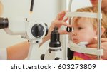 doctor optometrist checks...   Shutterstock . vector #603273809