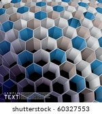 hexagon abstract background   Shutterstock .eps vector #60327553
