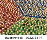 crowd of small symbolic figures ... | Shutterstock . vector #603278549