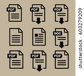 set of file formats icons... | Shutterstock .eps vector #603279209