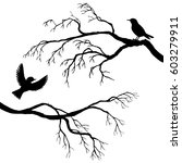 vector silhouettes of birds at... | Shutterstock .eps vector #603279911
