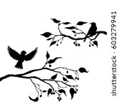 vector silhouettes of birds at... | Shutterstock .eps vector #603279941