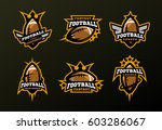 set of sports logos  games in... | Shutterstock .eps vector #603286067