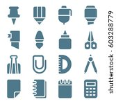 set of stationery icons. vector ... | Shutterstock .eps vector #603288779