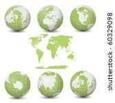 earth green globes collection... | Shutterstock . vector #60329098