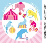 vector illustration of circus... | Shutterstock .eps vector #603294989