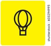 balloon icon | Shutterstock .eps vector #603294995