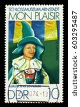germany   circa 1974  a stamp... | Shutterstock . vector #603295487