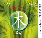 five feng shui elements set  ... | Shutterstock .eps vector #603295634