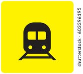 train icon | Shutterstock .eps vector #603296195