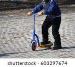 walks in the fresh air. kid... | Shutterstock . vector #603297674
