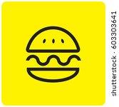burger icon | Shutterstock .eps vector #603303641