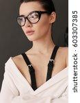 fashion interior photo of...   Shutterstock . vector #603307385