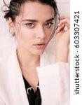 fashion interior photo of...   Shutterstock . vector #603307421