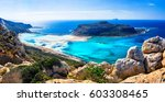 amazing scenery of greek... | Shutterstock . vector #603308465
