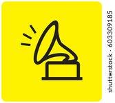 gramophone icon | Shutterstock .eps vector #603309185