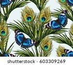 beautiful seamless vector... | Shutterstock .eps vector #603309269