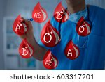 blood drops with different... | Shutterstock . vector #603317201