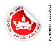 vector red bent sticker with...   Shutterstock .eps vector #603319025