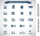 heating and cooling icons | Shutterstock .eps vector #603323399