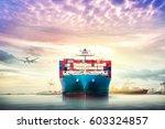 logistics and transportation of ... | Shutterstock . vector #603324857