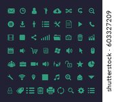 set of icons for web  internet  ... | Shutterstock .eps vector #603327209