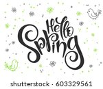 vector hand lettering greetings ... | Shutterstock .eps vector #603329561
