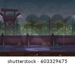 seamless cartoon outdoor prison ...