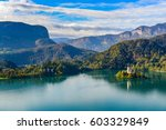 lake bled in slovenia | Shutterstock . vector #603329849