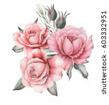 watercolor invitation design...   Shutterstock . vector #603332951