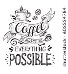 banner with coffee cup and... | Shutterstock .eps vector #603334784