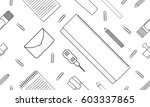 stationery pattern. diaries ... | Shutterstock .eps vector #603337865