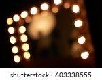 lighting blur in dressing room   Shutterstock . vector #603338555