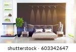 modern bright interior . 3d...   Shutterstock . vector #603342647