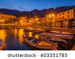 malcesine on garda lake  italy | Shutterstock . vector #603351785