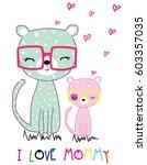 Stock vector cute cat vector artwork 603357035