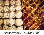different alcohol drinks in... | Shutterstock . vector #603359105