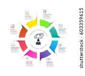 modern infographics business... | Shutterstock .eps vector #603359615