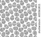 seamless pattern  easter eggs... | Shutterstock .eps vector #603361811